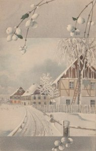 M.M.VIENNE Nr. 395: 1910 , Winter scene ; M. MUNK