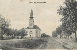 Serbia Gombos Bogojevo church 1914 postcard