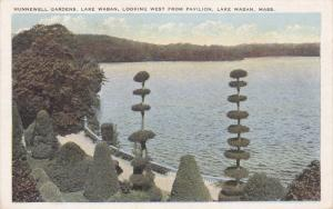 Hunnewell Gardens, Lake Waban, Looking West From Pavilion, LAKE WABAN, Massac...