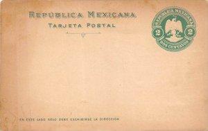 16481 Republica Mexicana, Tarjeta Postal, raised stamp on front