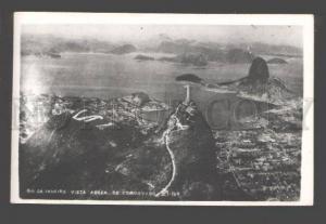 090319 BRAZIL Rio de Janeiro vista aerea Corcovado Vintage PC