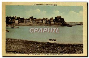 Old Postcard Loguivy View Grand Rocher