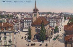LAUSANNE , Switzerland , 00-10s ; Eglise et Place St Francois
