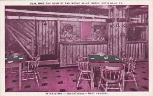 Pennsylvania Pottsville Coal Mine Tap Room At The Necho Allen Hotel Interesti...