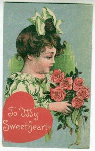 Valentine - Girl with Flowers
