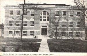 Iowa Des Moines Conservatory Of Music Drake University 1910