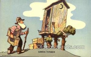 Artist Don Bloobgoob Out House, Out Houses, Outhouse, Outhouses Postcard Post...
