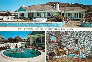 New Zealand Postcard Bluff Paua Shell House different aspects