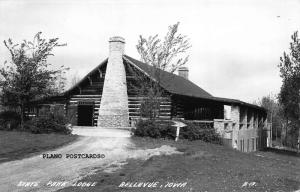 BELLEVUE, IOWA STATE PARK LODGE RPPC REAL PHOTO POSTCARD