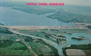 Kansas Tuttle Creek Dam Reservoir and River Pond Area