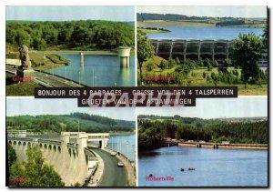 Modern Postcard Hello 4 Dams Grusse von den 4 Talsperren