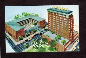 WA Ridpath Hotel Motor Inn Spokane Washington Postcard