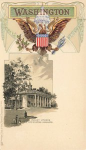 Washington DC Mount Vernon Embossed Raphael Tuck Postcard