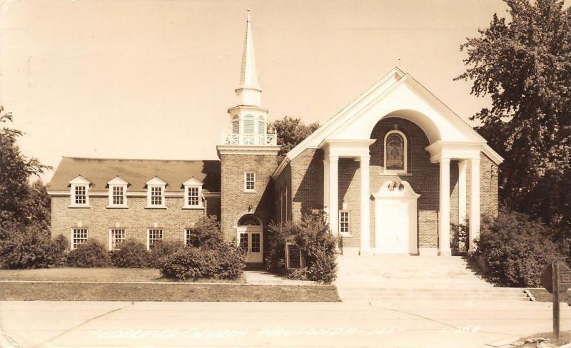 Wauconda Illinois~Federated Church~My Church Up Here~1948 Real Photo~RPPC