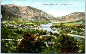 Glenwood Springs. Colorado Postcard Bird's-Eye Panorama View CO Midland Railway