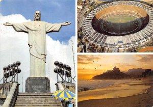 Monumento do Cristo redentor Rio De Janeiro Brazil, Brasil 1987 Ink Stamp