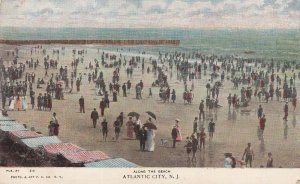 ATLANTIC CITY, New Jersey, 1901-1907; Along The Beach