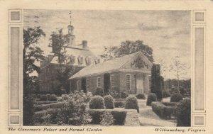 WILLIAMSBURG, Virginia, 1934; The Governor's Palace & Formal  Gardens