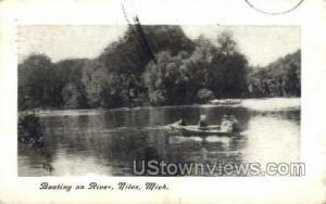 Boating on River Niles MI 1908