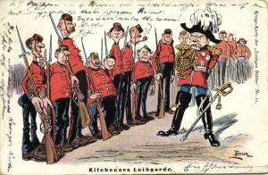 BOER WAR, Caricature, British Army Field Marshal Kitchener's Bodyguards