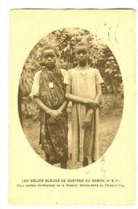Les Soeurs Bleues de Castres au GABON, Deux Petites chretiennes, PU-1927