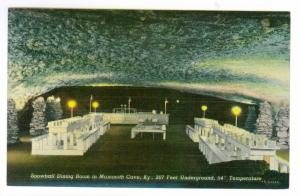 Snowball Dining Room in Mammoth Cave, Kentucky, unused PPC
