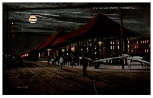 New Jersey Paterson  Erie Railroad Station at night