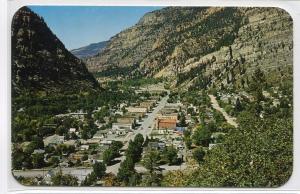 Ouray Colorado Panorama 1950s postcard