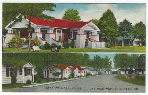 Elkton, Maryland, Vintage Postcard Views of Steele's Motel Court