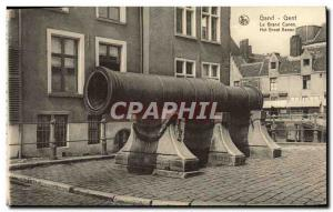 Old Postcard Ghent The Big Cannon