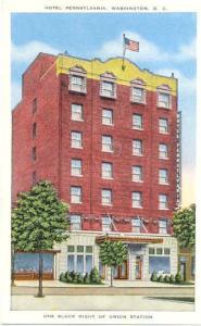 Hotel Pennsylvania near Union station, Washington, DC, Linen