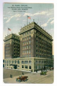 El Paso, Texas to Washington, Kansas 1914 Postcard, Paso Del Norte Hotel
