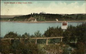Bear River NS Nova Scotia c1910 Postcard - Lighthouse