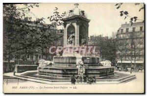 Old Postcard Paris Fountain Saint Sulpice