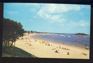 Onset, Massachusetts/MA Postcard, Bathers At Onset Beach, Cape Cod