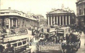 Bank of England & Royal Exchange London UK, England, Great Britain Unused