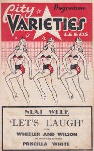 Leeds Varieties Burlesque Show Antique Theatre Programme