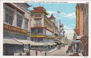 California San Francisco Street Scene In Chinatown