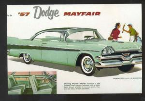 1957 DODGE MAYFAIR CAR DEALER ADVERTISING POSTCARD '57 MOPAR CARS
