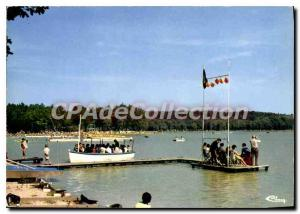 Postcard Modern Sille le Guillaume Sarthe Sille beach Foret Domaniale Lake