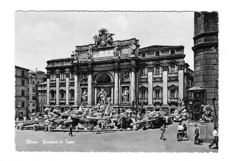 Italy Roma Fontana di Trevi Fountain Rome Glossy 4X6 Photo Postcard