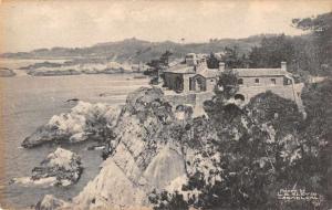 Carmel California Carmel Highlands Residence Scenic View Antique Postcard J70332