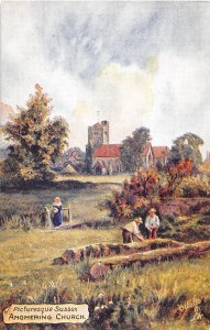 Angmering Church Picturesque Sussex UK Tuck Oilette postcard