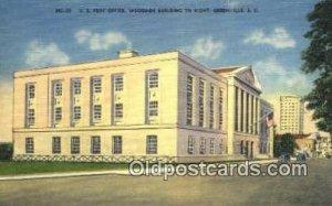 Greenville, SC USA Post Office Unused