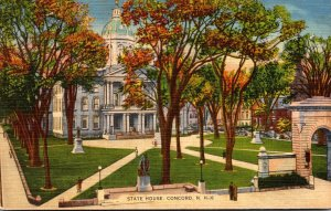 New Hampshire Concord The State House 1939