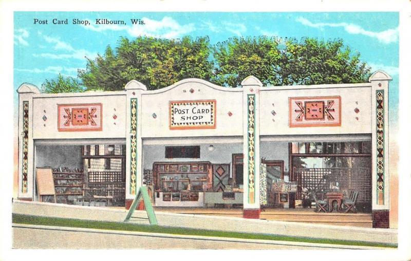 Kilbourne WI Post Card Shop Postcard