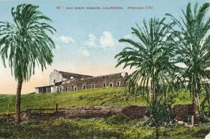 San Diego Mission California Edw Mitchell ca 1909 Postcard