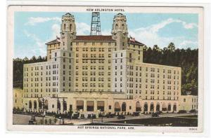 Arlington Hotel Hot Springs Arkansas 1920s postcard