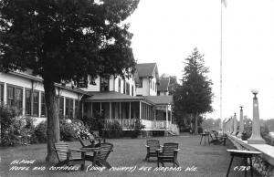 Egg Harbor Wisconsin Alpine Hotel and cottages real photo pc Z17059