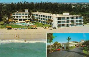 Swimming Pool, Aerial View, Beach Shore, Sun Castle Club and Motor Hotel, Cla...